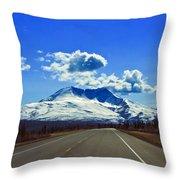 Denali Highway Throw Pillow