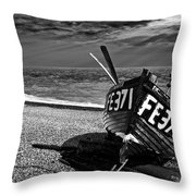 Denise And The Pier Throw Pillow