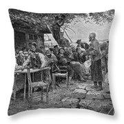 Denmark: Fishermen, 1901 Throw Pillow