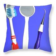 Dental Equipment Throw Pillow