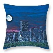 Denver Moon Throw Pillow