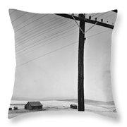 Depression Era Rural America Throw Pillow