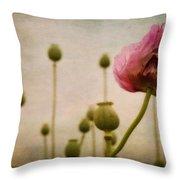 Depth Of Poppy Field Throw Pillow by Priska Wettstein