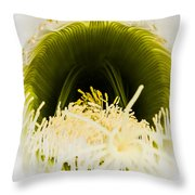 Depths Of The Cactus Flower Throw Pillow