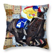 Derby Tickets 4 Throw Pillow