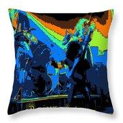 Derringer Rock Spokane 1977 Throw Pillow