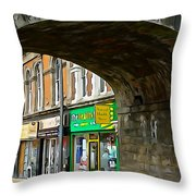 Derry Shops Throw Pillow
