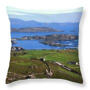 Derrynane Harbour, Caherdaniel, Ring Of Throw Pillow