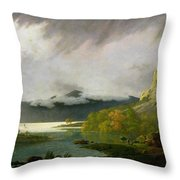 Derwent Water With Skiddaw In The Distance Throw Pillow