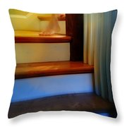Descending The Stairs Throw Pillow