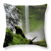 Descent To The Falls Throw Pillow