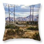 Desert Blue Throw Pillow