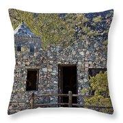 Desert Castle Throw Pillow
