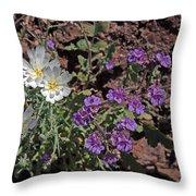 Desert Chicory And Heliotrope Throw Pillow