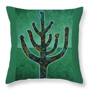 Desert Green Throw Pillow
