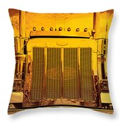 Desert Hauler Abstract Throw Pillow