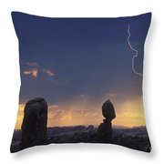 Desert Storm - Fs000484 Throw Pillow by Daniel Dempster