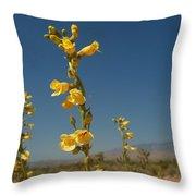 Desert Sweetpea Throw Pillow