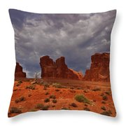 Desert Walls Throw Pillow