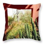 Desert Window Throw Pillow