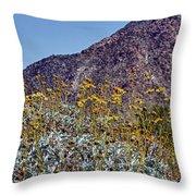 Desert Yellow Throw Pillow