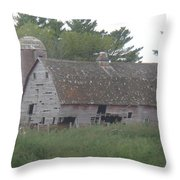 Deserted Barn Throw Pillow