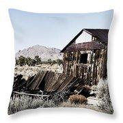 Deserted Desert Dwelling Throw Pillow