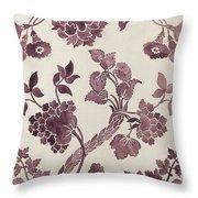 Design For A Silk Damask Throw Pillow