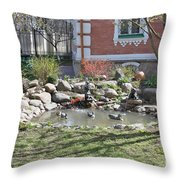 Design Of Yard Throw Pillow