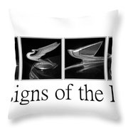 Designs Of The Past Throw Pillow