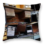 Desk Scrap Throw Pillow