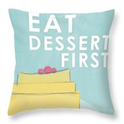 Dessert Throw Pillow by Linda Woods