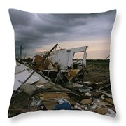 Destruction Left In The Wake Throw Pillow