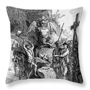 Destruction Of Idols, C1750 Throw Pillow by Granger