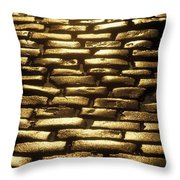 Detail Of Cobblestones, Dublin, Ireland Throw Pillow