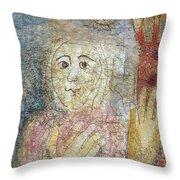 Detail Of Eve Throw Pillow