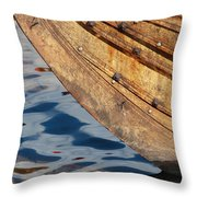 Detail Of The Hull Of A Norrlandsboat Throw Pillow