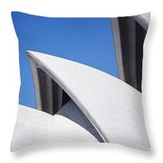 Detail Of The Roof Of The Sydney Opera Throw Pillow