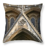 Detail Of Westminster Abbey Throw Pillow