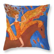 Detail Of Wild Winds Of Autumn Throw Pillow