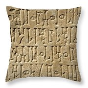 Details Of Sabaean Inscriptions At The Throw Pillow