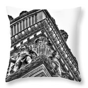 Details Of The Ellicott Buildings Roof Throw Pillow