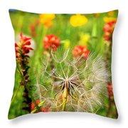 Determined Dandelion Throw Pillow