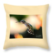 Determined Hummingbird Throw Pillow