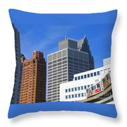 Detroit People Mover Throw Pillow