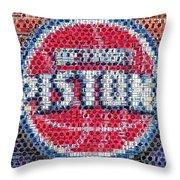 Detroit Pistons Mosaic Throw Pillow