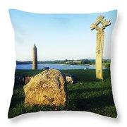 Devenish Island, Co Fermanagh, Ireland Throw Pillow
