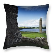 Devenish Monastic Site, Lough Erne, Co Throw Pillow