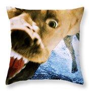 Devil Dog Throw Pillow
