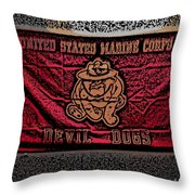 Devil Dogs Throw Pillow